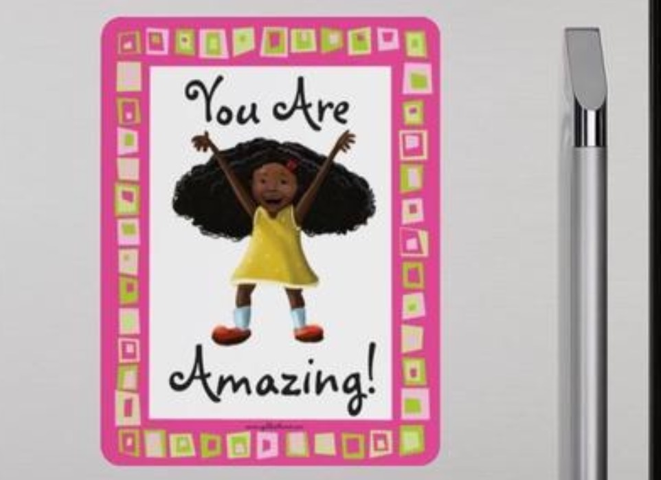 """Positive Affirmation Magnets For African-American Children"" $9.99"